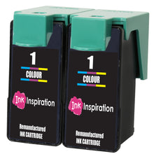 Load image into Gallery viewer, INK INSPIRATION® 2 TRI-COLOUR Remanufactured for Lexmark No. 1 Ink Cartridges compatible with Lexmark X2300 X2310 X2315 X2320 X2330 X2340 X2350 X2360 X2390 X2450 X2470 X2480 X3450 X3470 Z730 Z735