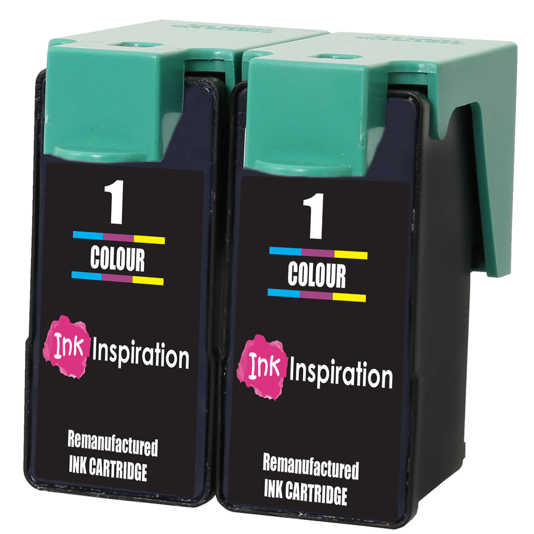 INK INSPIRATION® 2 TRI-COLOUR Remanufactured for Lexmark No. 1 Ink Cartridges compatible with Lexmark X2300 X2310 X2315 X2320 X2330 X2340 X2350 X2360 X2390 X2450 X2470 X2480 X3450 X3470 Z730 Z735