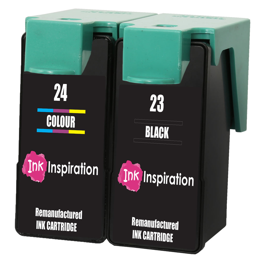 INK INSPIRATION® 2 Remanufactured for Lexmark No. 23 & 24 Ink Cartridges compatible with Lexmark X3430 X3500 X3530 X3550 X4500 X4530 X4550 Z1400 Z1410 Z1420 Z1450 | High Capacity