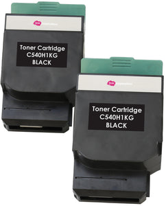Ink Inspiration 2 BLACK Compatible Laser Toner Cartridges for Lexmark C540n, C543dn, C544dn, C544dtn, C544dw, C544n, C546dtn, X543dn, X544dn, X544dtn, X544dw, X544n, X546dtn | 2,500 Pages - ink-inspiration