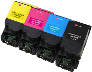 Ink Inspiration Set of 4 Compatible 802H Laser Toner Cartridges for Lexmark CX410de CX410dte CX410e CX510de CX510dew CX510dhe CX510dthe | Print Yield: 4,000 Pages (Black) & 3,000 Pages (Colours) - ink-inspiration