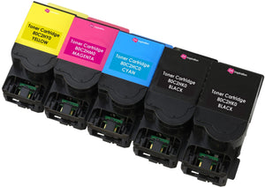 Ink Inspiration 5 (1 SET + 1 BLACK) Compatible 802H Laser Toner Cartridges for Lexmark CX410de CX410dte CX410e CX510de CX510dew CX510dhe CX510dthe | Print Yield: 4,000 Pages (Black) & 3,000 Pages (Colours) - ink-inspiration