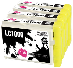 INK INSPIRATION® Replacement for Brother LC1000 LC-1000BK Black Ink Cartridges, Use with Brother DCP-130C DCP-135C DCP-150C DCP-330C DCP-350C DCP-357C DCP-540CN DCP-560CN DCP-770CW MFC-235C MFC-465CN