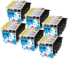 Load image into Gallery viewer, INK INSPIRATION® Replacement for Brother LC1100 Ink Cartridges 30-Pack, Use with Brother DCP-145C 165C 195C 197C 375CW 385C 395CN 585CW 6690CW MFC-250C 290C 490CW 5490CN 5890CN 5895CW 6490CW 990CW