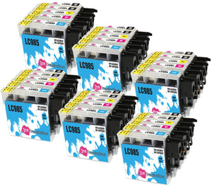 INK INSPIRATION® Replacement for Brother LC985 Ink Cartridges 30-Pack, Use with Brother DCP-J315W DCP-J125 DCP-J140W DCP-J515W MFC-J415W MFC-J220 MFC-J265W MFC-J410