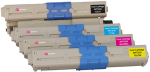 Ink Inspiration Set of 4 Compatible Laser Toner Cartridges for Oki C301 C301dn C321 C321dn MC332dn MC342dn MC342dnw MC342dw MC342w | Print Yield: 2,200 Pages (Black) & 1,500 Pages (Colours) - ink-inspiration