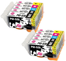 Load image into Gallery viewer, INK INSPIRATION® Replacement for Canon PGI-520 CLI-521 Ink Cartridges 10-Pack, Use with Canon Pixma MP560 MP640 MP630 MP620 iP4600 iP4700 iP3600 MP540 MP990 MP980 MP550 MX870 MX860