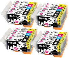 Load image into Gallery viewer, INK INSPIRATION® Replacement for Canon PGI-520 CLI-521 Ink Cartridges 20-Pack, Use with Canon Pixma MP560 MP640 MP630 MP620 iP4600 iP4700 iP3600 MP540 MP990 MP980 MP550 MX870 MX860