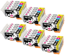 Load image into Gallery viewer, INK INSPIRATION® Replacement for Canon PGI-520 CLI-521 Ink Cartridges 30-Pack, Use with Canon Pixma MP560 MP640 MP630 MP620 iP4600 iP4700 iP3600 MP540 MP990 MP980 MP550 MX870 MX860