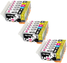 Load image into Gallery viewer, INK INSPIRATION® Replacement for Canon PGI-525 CLI-526 Ink Cartridges 18-Pack, Use with Canon Pixma MG6150 MG6250 MG8150 MG8250, PGBK/Black/Cyan/Magenta/Yellow/Grey