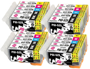 INK INSPIRATION® Replacement for Canon PGI-525 CLI-526 Ink Cartridges 20-Pack, Use with Canon Pixma MG5350 MG5250 MG5150 MG6150 MG6250 iX6550 iP4850 iP4950 MX895 MX885 MG8150 MG8250