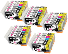 Load image into Gallery viewer, INK INSPIRATION® Replacement for Canon PGI-525 CLI-526 Ink Cartridges 30-Pack, Use with Canon Pixma MG6150 MG6250 MG8150 MG8250, PGBK/Black/Cyan/Magenta/Yellow/Grey