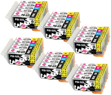 Load image into Gallery viewer, INK INSPIRATION® Replacement for Canon PGI-525 CLI-526 Ink Cartridges 30-Pack, Use with Canon Pixma MG5350 MG5250 MG5150 MG6150 MG6250 iX6550 iP4850 iP4950 MX895 MX885 MG8150 MG8250