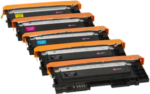 Ink Inspiration 5 (1 SET + 1 BLACK) Compatible Laser Toner Cartridges for Samsung Xpress C410W C460FW C460W C467W CLP-360 CLP-365 365W CLX-3305 3305FN 3305W | Print Yield: 1,500 Pages (Black) & 1,000 Pages (Colours) - ink-inspiration