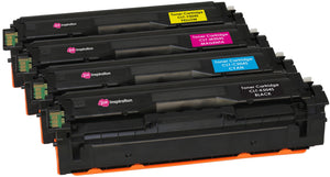 Ink Inspiration Set of 4 Compatible CLT-504S Laser Toner Cartridges for Samsung Xpress SL-C1810W SL-C1860FW CLX-4195FN CLX-4195FW CLP-415N CLP-415NW | Print Yield: 2,500 Pages (Black) & 1,800 Pages (Colours) - ink-inspiration