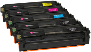 Ink Inspiration 5 (1 SET + 1 BLACK) Compatible CLT-504S Laser Toner Cartridges for Samsung Xpress SL-C1810W SL-C1860FW CLX-4195FN CLX-4195FW CLP-415N 415NW | Print Yield: 2,500 Pages (Black) & 1,800 Pages (Colours) - ink-inspiration
