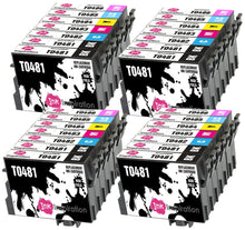 Load image into Gallery viewer, INK INSPIRATION® Replacement for Epson T0481-T0486 (T0487) Ink Cartridges 28-Pack, Use with Epson Stylus Photo R300 R220 R340 R200 R320 RX620 RX640, Black/Cyan/Magenta/Yellow/Light Cyan/Light Magenta