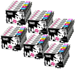INK INSPIRATION® Replacement for Epson T0481-T0486 (T0487) Ink Cartridges 36-Pack, Use with Epson Stylus Photo R300 R220 R340 R200 R320 RX620 RX640, Black/Cyan/Magenta/Yellow/Light Cyan/Light Magenta