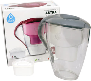 Water Filter Jug Dafi Astra Unimax 3.0L with Free Filter Cartridge - Graphite