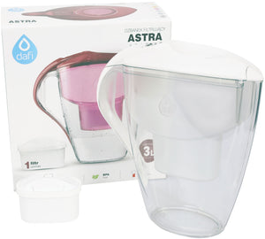 Water Filter Jug Dafi Astra Unimax 3.0L with Free Filter Cartridge - White