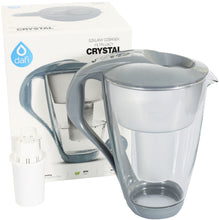 Load image into Gallery viewer, Water Filter Glass Jug Dafi Crystal Classic 2.0L with Free Filter Cartridge - Graphite