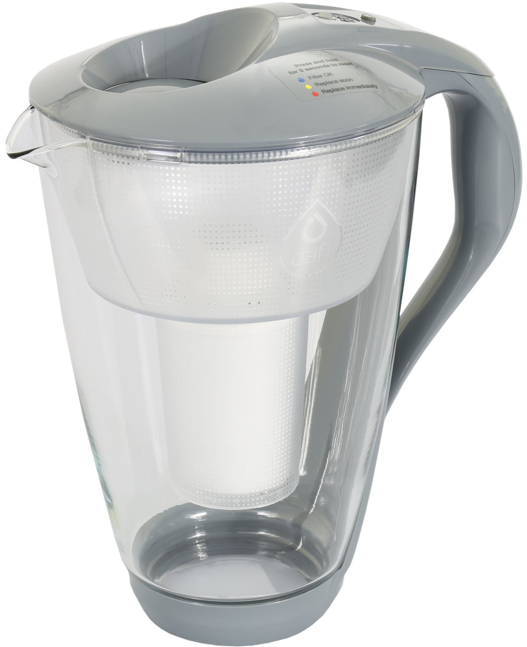 Water Filter Glass Jug Dafi Crystal Classic 2.0L with Free Filter Cartridge - Graphite