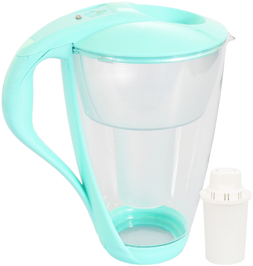 Water Filter Glass Jug Dafi Crystal Classic 2.0L with Free Filter Cartridge - Mint
