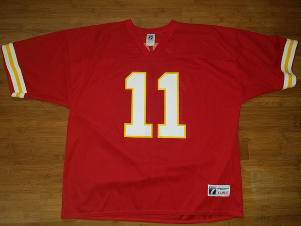Mens Logo 7 Kansas City Chiefs Elvis Grbac Jersey Size XL-Red