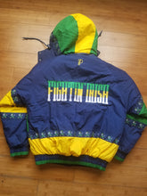 Load image into Gallery viewer, Vintage Youth Pro Player Notre Dame Fighting Irish Hooded Jacket Size Large