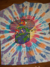 Load image into Gallery viewer, Vintage Mens 2002 Jimmy Buffet and The Coral Reefer Band On the Far Side of the World Tour Tie Dye Tshirt Size XL