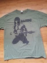 Load image into Gallery viewer, Mens Rambo First Blood Reprint Tshirt Size XL-Green