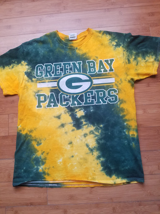 Mens NFL Apparel Green Bay Packers Tie Dye Tshirt Size Large