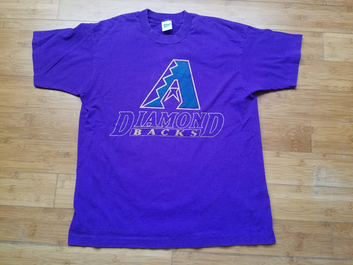 Vintage Mens Salem Sportswear Arizona Diamondbacks Tshirt Size Large-Purple