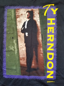 Vintage Mens 1997 Ty Herndon On Tour Tshirt Size XL-Black