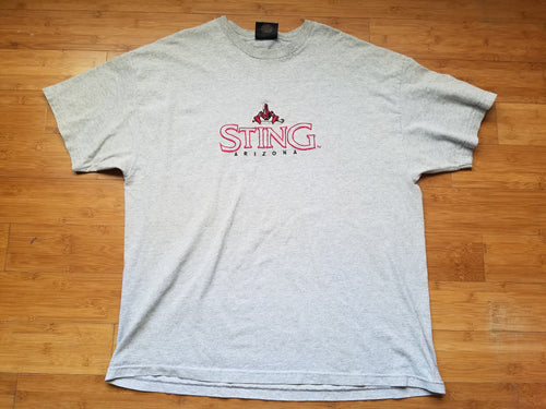 Vintage Mens Antigua NLL Arizona Sting Tshirt Size XXL-Grey