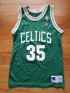 Vintage Youth Champion Boston Celtics Reggie Lewis Jersey Size Large(14-16)-Green
