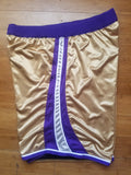 Vintage Mens Reebok Sacramento Kings Gamer/Pro Cut Shorts Size 50-Gold