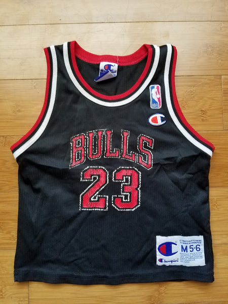 Vintage Toddler Champion Chicago Bulls Michael Jordan Jersey Size Medium(5-6)-Black