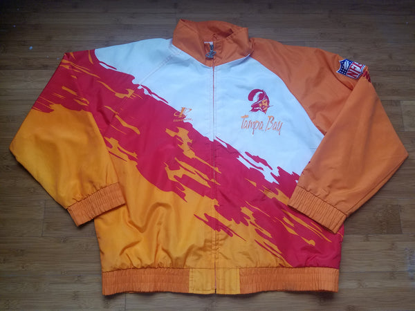Vintage Mens Logo Athletic Tampa Bay Buccaneers Splash Jacket Size XL
