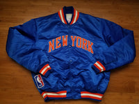 Vintage Mens Starter New York Knicks Satin Jacket Size Large-Blue