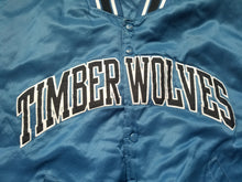 Load image into Gallery viewer, Vintage Mens Starter Minnesota Timberwolves Satin Jacket Size Medium-Blue