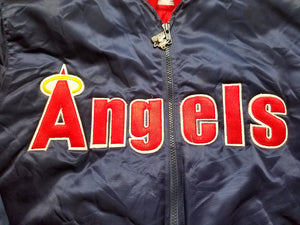 Vintage Mens Starter California/Anaheim Angels Satin Jacket Size Small