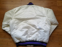 Rare Vintage Mens Starter Colorado Rockies Satin Jacket Size Large-White