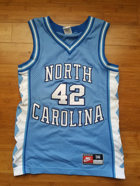 Vintage Mens Nike North Carolina Jerry Stackhouse Authentic Jersey Size 36-Carolina Blue