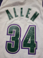 Vintage Mens Nike Milwaukee Bucks Ray Allen Swingman Jersey Size 3XL-White