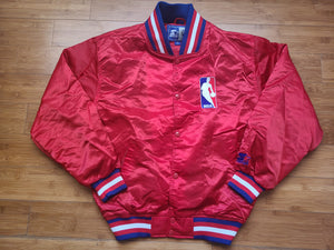 Vintage Mens Starter NBA Referee Jacket Size Medium-Red