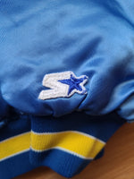 Vintage Mens Starter Los Angeles Rams Satin Jacket Size Large-Blue