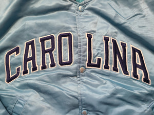 Vintage Mens Starter North Carolina Tar Heels Satin Jacket Size Large-Light Blue