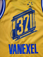 Vintage Mens Nike Golden State Warriors Nick Van Exel Swingman Jersey Size XXL-Gold