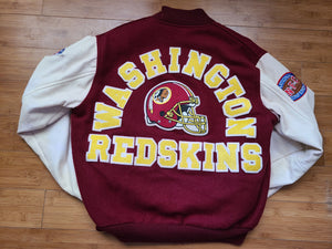 Vintage Mens Chalk Line Washington Redskins Letterman Jacket Size Medium